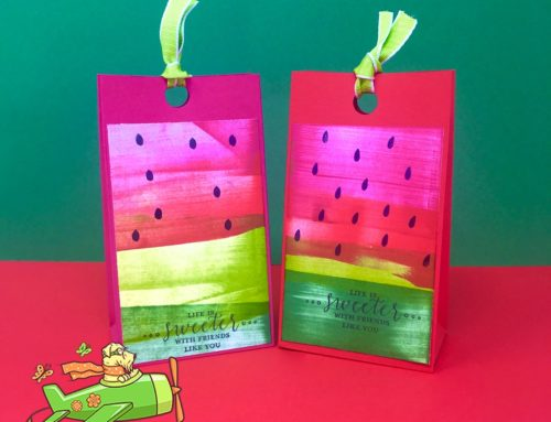 Watermelon Gift Bag Using Ink Drag Technique